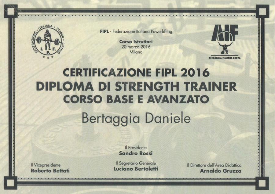 Diploma di Strenght Trainer